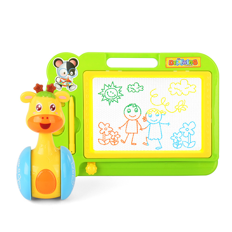 Hot Sales Source Lobo Baby Toys Deer Little Star Tumbler Early Education Doodle Board Magnetic Drawing Board Set
