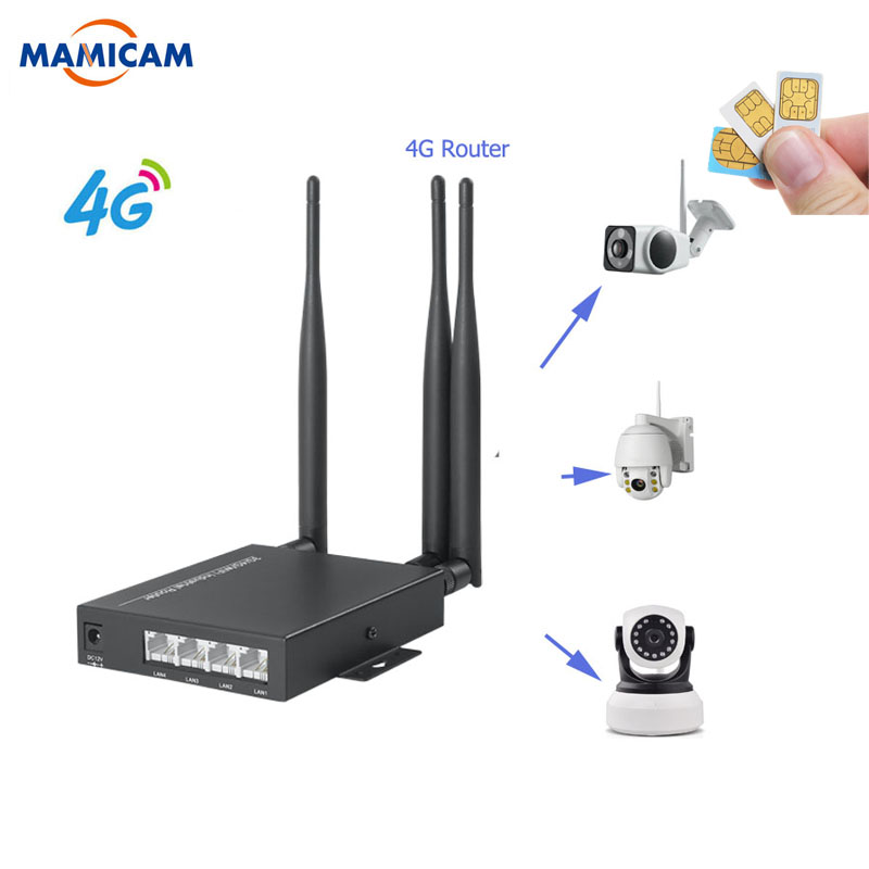 Unlocked 3G 4G Industry Wireless Router With 3 5dbi Antennas 3G 4G WIFI Router For Wi-fi Wireless IP Camera AHD