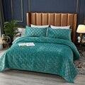 WOSTAR покрывало на кровать зимние теплые из твердого горного хрусталя бархатная стеганая Толстая одеяло супер мягкие уютные постельные прин...
