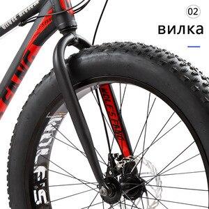 Image 3 - Wolfun fang bisiklet tam dağ bisikleti yağ bisiklet yol bisikleti alüminyum bisiklet 26 kar yağ lastiği 24 hız mtb kar bisikletler plaj