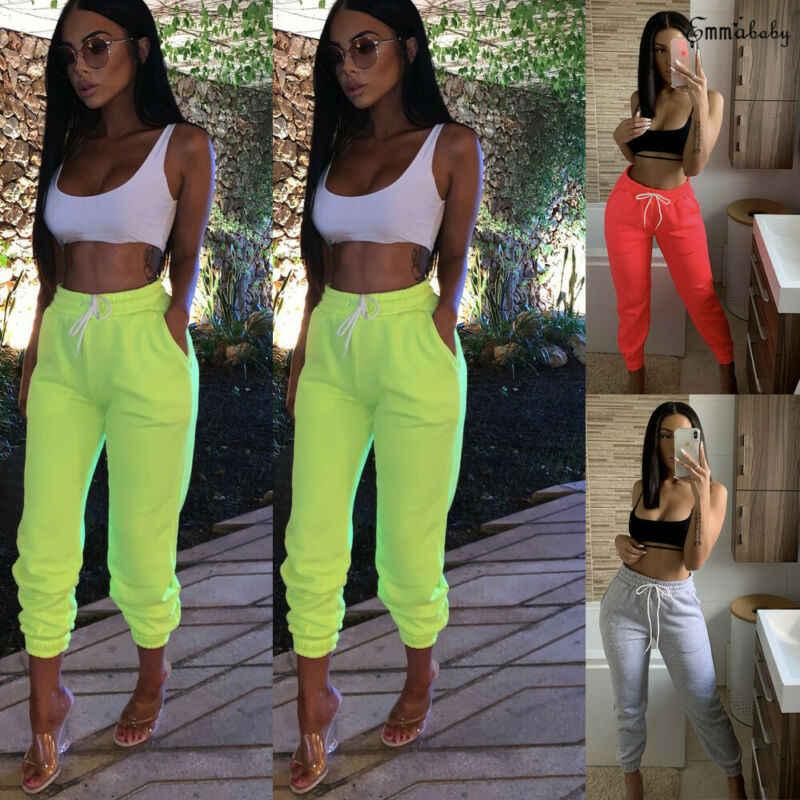 Goocheer женские спортивные штаны с высокой талией, спортивные эластичные спортивные штаны для спортивного зала, повседневные женские длинные штаны с завязками для девочек, штаны для бега