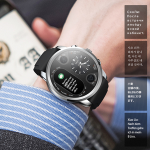 Image 5 - LEMFO Smart นาฬิกาธุรกิจชาย Dual Time Zone Heart Rate Monitor Fitness Tracker นาฬิกากันน้ำสำหรับ Android IOS