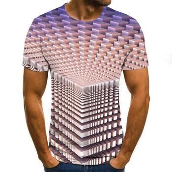2021 Fashion Casual Short Sleeve Three-Dimensional Vortex Men T-Shirt 3D Printed Summer O-Neck Daily Casual Funny T-Shirts