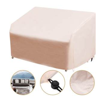New Patio Furniture Cover Outdoor Yard Garden Chair Sofa Waterproof Dust Cover Sun Protection Oxford Cloth Foldable Drawstring T