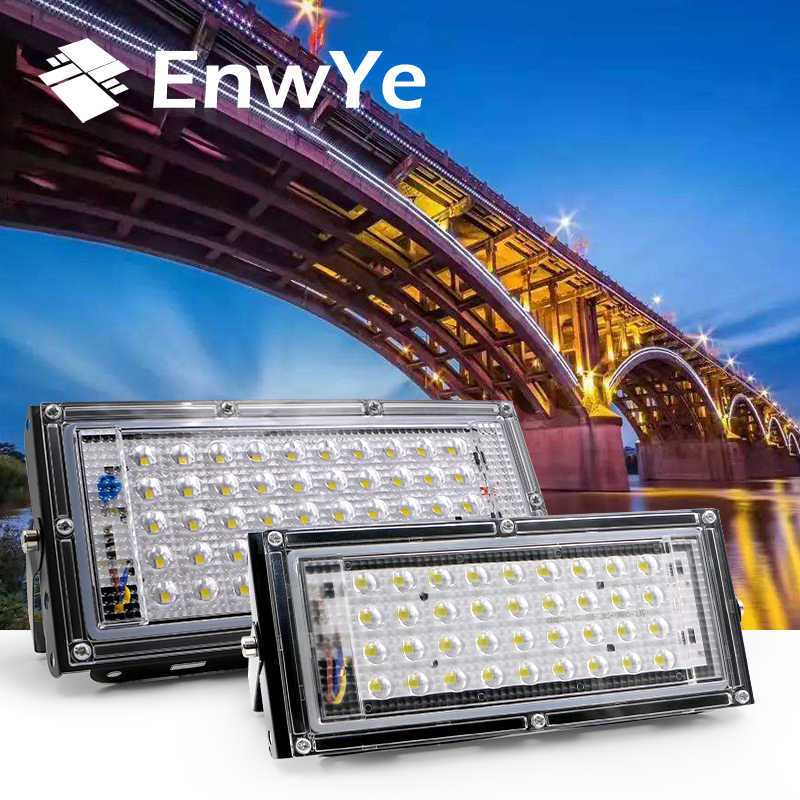 EnwYe 40W 50W Perfect LED Floodlight Floodlight LED 220V 240V กันน้ำ LED Spotlight