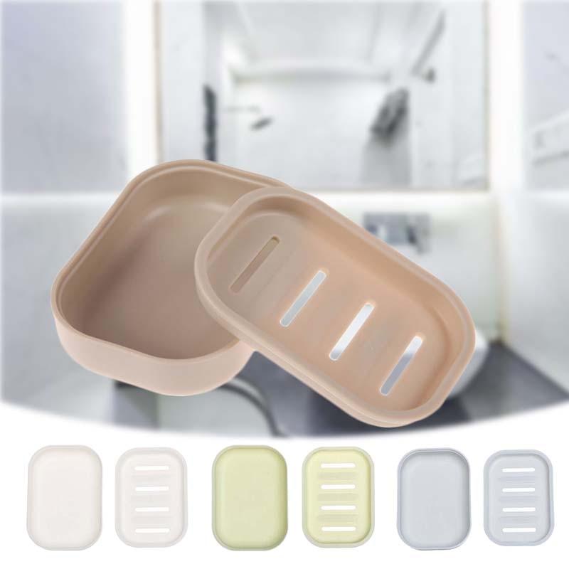 Популярные мыльница 4 цвета двойной решетки жидкого мыла или ополаскивателя для чехол держатель Контейнер для дома для ванной для душа расп...