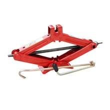 Aço resistente scissor jack 2 ton carro automóvel mudando pneus ferramentas (vermelho)