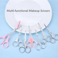 Stainless Steel Makeup Scissors Eyebrow Scissor Eyelashes Nose Hair Trimmer Manicure Facial Trimming Tweezer Makeup Tool