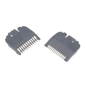 2 uds. Guía de corte peine herramienta de peluquería 1,5mm 3mm Set colorido límite peine conjunto Compatible con WAHL cortadora de pelo eléctrica