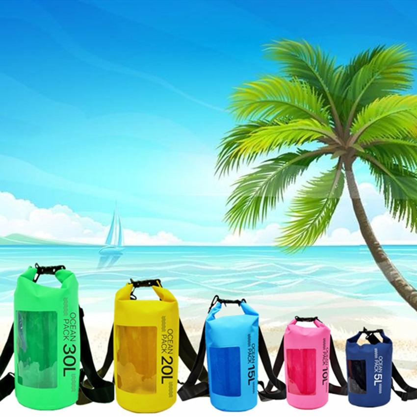 PLAY-KING 2019Fashion 10L 20L Outdoor Diving Compression Storage Waterproof Bag Dry Bag For Man Women Swimming Rafting Kayak