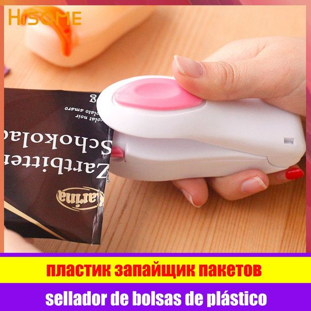 Portable Heat Sealer Plastic Bag Storage Packet Mini Sealing Machine Handy Sealers Easy Resealer for Food Snack Kitchen Gadgets