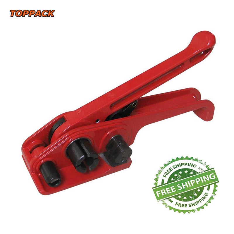 Free ship Wholesale and Retail Manual Plastic PP PET Strapping Tensioner, Hand Pack Strapping Tool for PET & PP Strap 13-19mm