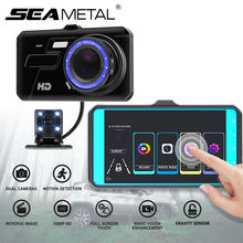 4 Inch IPS Touch Screen Dash Cam 1080P Car DVR Dual Lens Car Camera Dashcam Wide Angle Video Recorder Rear Camera Night Vision