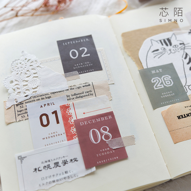 2020 Mini Desktop Paper Calendar dual Daily Scheduler Table Planner Yearly Agenda Organizer 366 days To Do List Planner Book 2