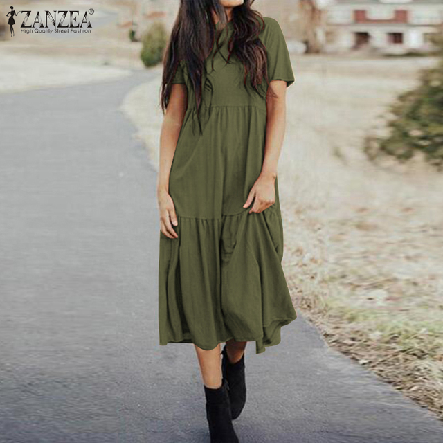 boho casual dress, loose and comfortable 4