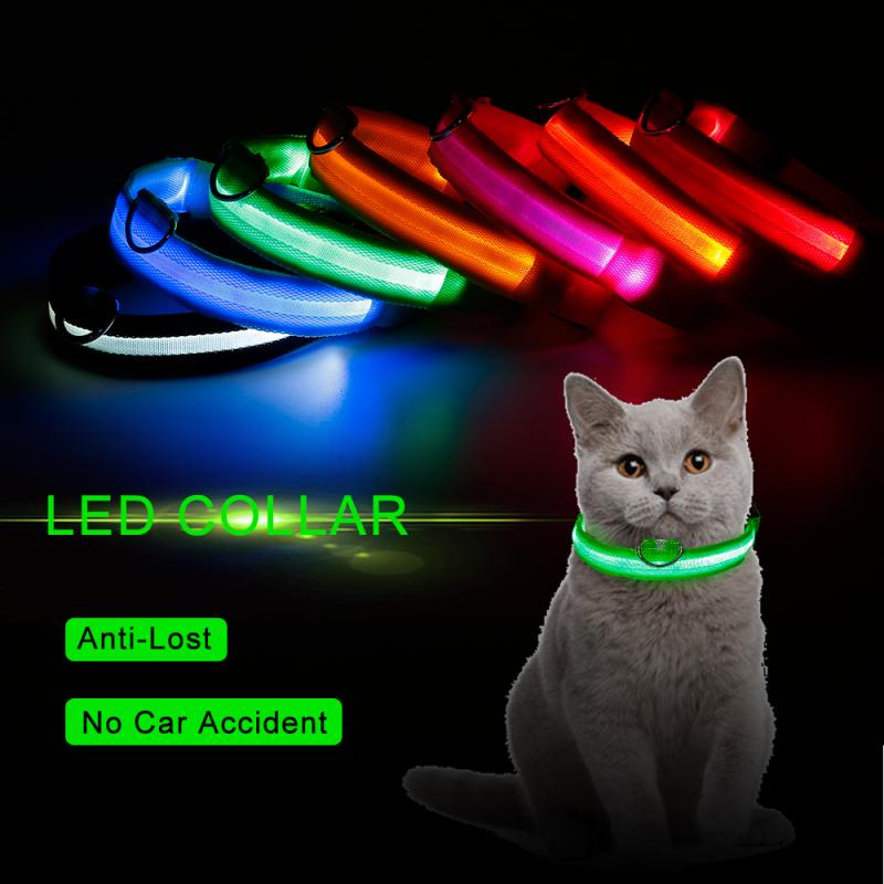 Fashion Pet Dogs Puppy Nylon Glow In The Dark LED Glowing Leashes For Cats Kitten Dog Supplies Pet Products Dropshipping TSLM1