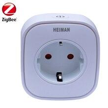 HEIMAN Zigbee Power Plug Smart Power Metering on APP, 16A 3000W Socket Zigbee