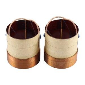 Image 4 - Шуруповерт из стекловолоконного материала, 4 слойная катушка из круглой медной проволоки, 38,5 мм, 8 Ом, басовая звуковая катушка, 2 шт.