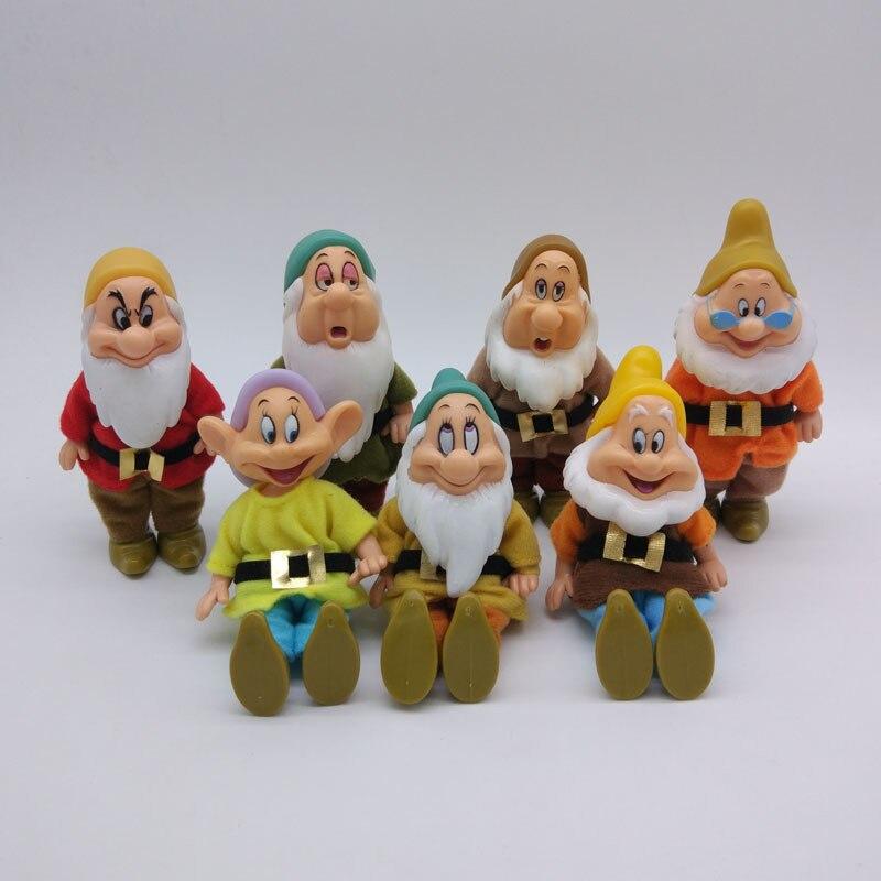 7 pçs disney neve branca e os sete anões figura de ação brinquedos 15cm princesa pvc bonecas coleção brinquedos para crianças presente aniversário