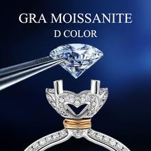 Loose Gemstones Moissanite Stones 6.5mm 1CT D Color VVS1 Top Selling Round Shape Diamond Excellent Cut Pass Diamond Tester Hot