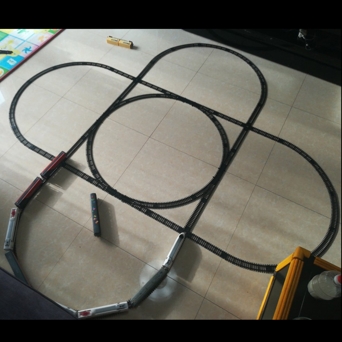 Surwish 14m 1:87 Sand Table Train Model Track Set Cross Track Set Ho Scale Model Train Accessories  -  Black