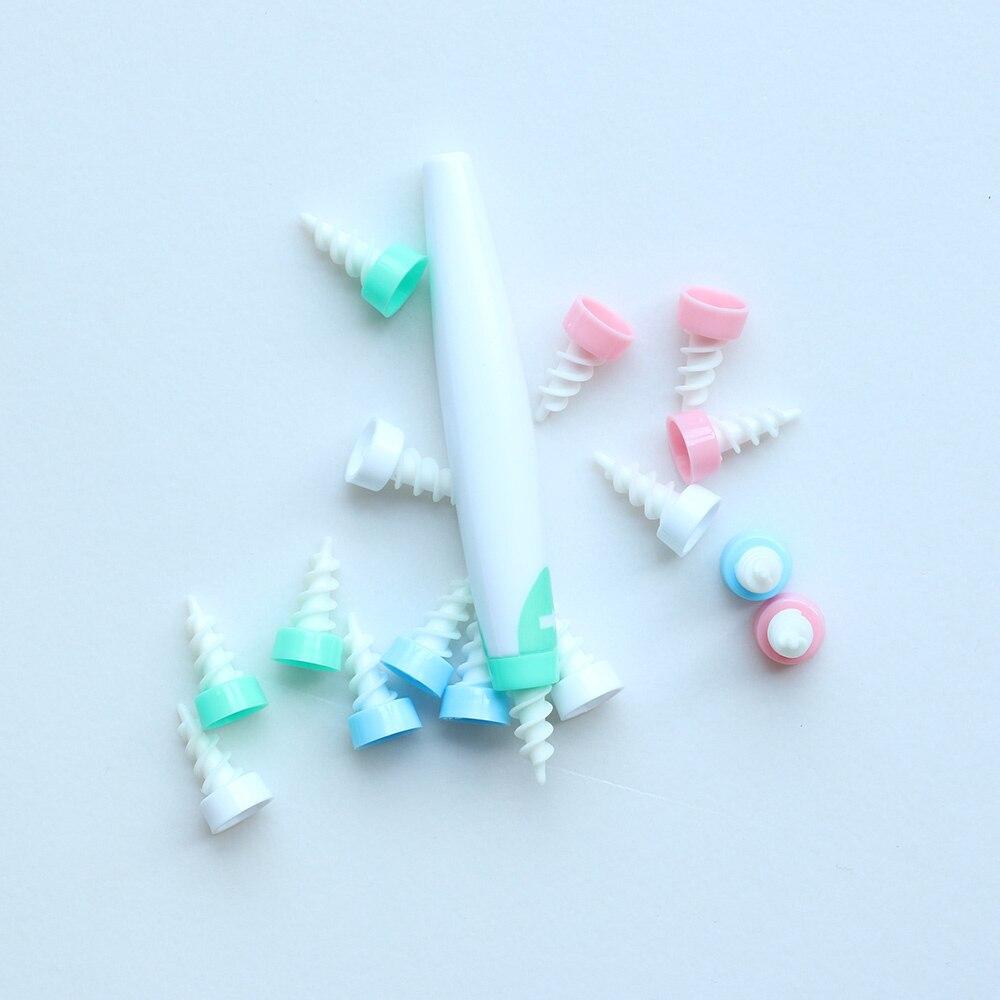 Limpiador de cera de los oídos Flexible y suave en espiral, herramienta de limpieza de orejas, hisopo, cuidado de las orejas, 16 cabezales