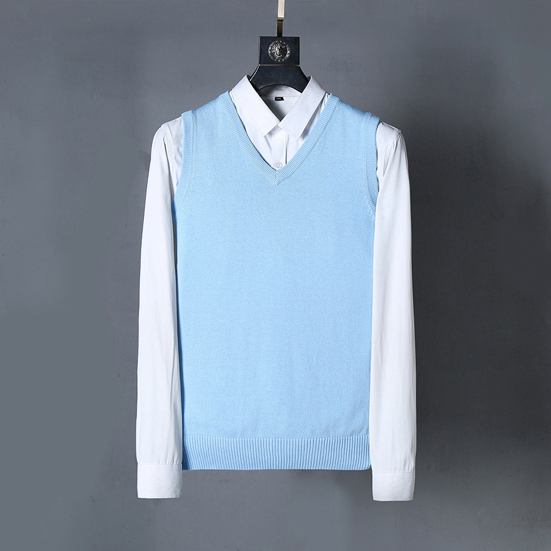 Men Small Pony V-neck Cotton Horse  Sweater  Vests Jersey Jumper Hombre Pull Homme Hiver Pullover Men Knitted Sweaters