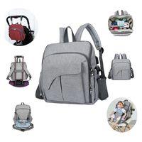 Multifunctional Mom Backpack Diaper Portable Changing Baby Chair Fixing Function Bag Handbag N84E