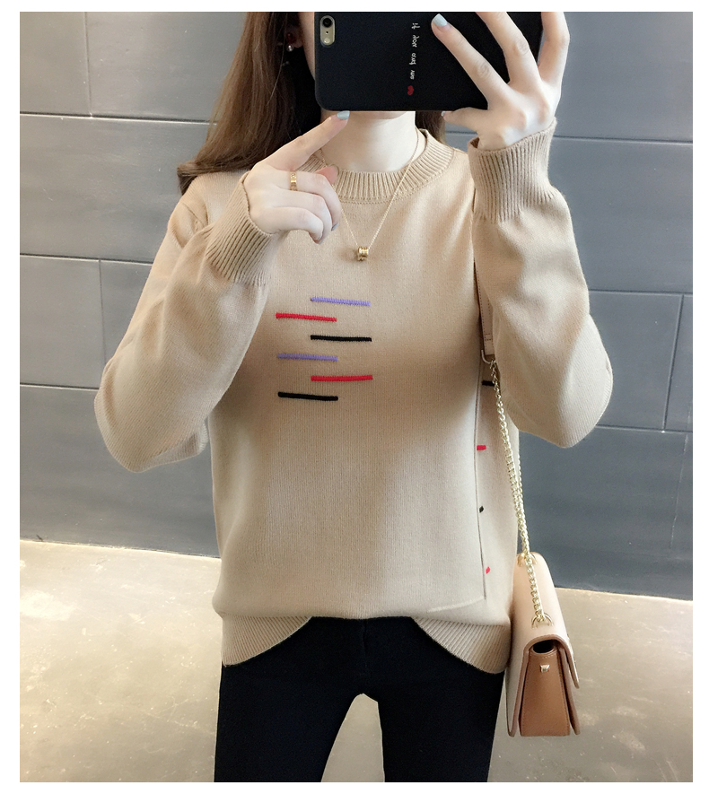 Sweaters women's 19 new fashion Korean loose autumn winter knitting bottoms wear Western clothes 15