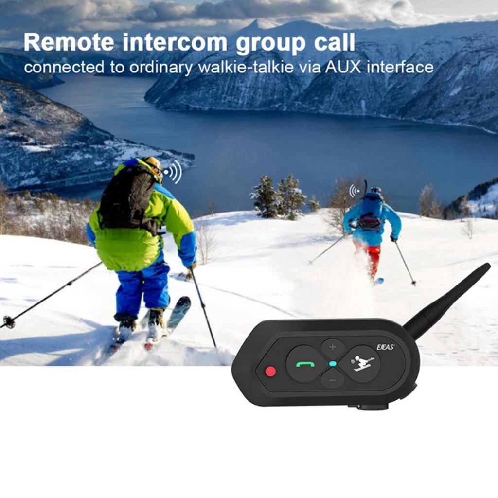 SKI10 1200M BT Intercom 2 Riders Motorcycle Winter Skiing Helmet Interphone Headsets
