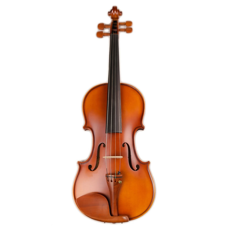 Full Size Students Beginner Violin Matte Finish Spruce Face Maple Violin Jujube Parts with Case Bow image