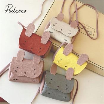 New Fashion Baby Kids Girl Bunny Shoulder Bag Cute Animal Storage Crossbody Messenger Bags Handbag Kids Gifts