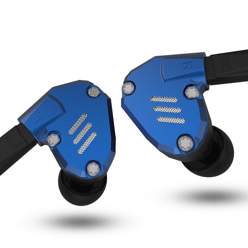 AK Audio KZ ZS7 1DD+4BA Hybird In Ear Earphone HIFI Running Sport Earphones Earplug Headphone KZ ZS10 BA10 ZS6 ZST ES4 ZS5 AS06