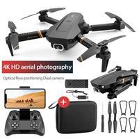 XKJ 2021 nuovo Mini Drone 4K 1080P videocamera HD fotografia aerea professionale telecomando pieghevole Quadcopter flusso ottico Auto
