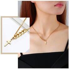 Ожерелья с подвеской крестом для женщин ожерелья из кубинской