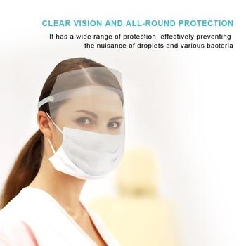 1/5PCS Anti Flu Protective Face Mask Face Shield Transparent Eye Protector PVC Cooking Anti-fog Transparent Face Veil Protective