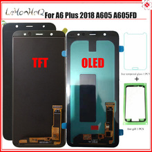 Wyświetlacz A6 Plus do Samsung Galaxy A6 Plus 2018 A6 + A605fd A605 wyświetlacz LCD z montaż digitizera ekranu dotykowego