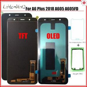 Image 1 - Wyświetlacz A6 Plus do Samsung Galaxy A6 Plus 2018 A6 + A605fd A605 wyświetlacz LCD z montaż digitizera ekranu dotykowego