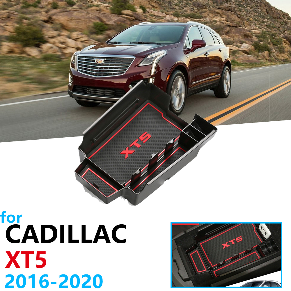 Car Organizer Accessories for Cadillac XT5 2016 2017 2018 2019 2020 Armrest Box Storage Stowing Tidying Anti Slip Mat Coin Box|Car Stickers| |  - title=