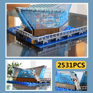 Image 5 - 601099 MOC Architecture Building Block The Singapore Boutique Clothing Jewelry Store WIth Led Part Assembly Brick Kids Toys Gift