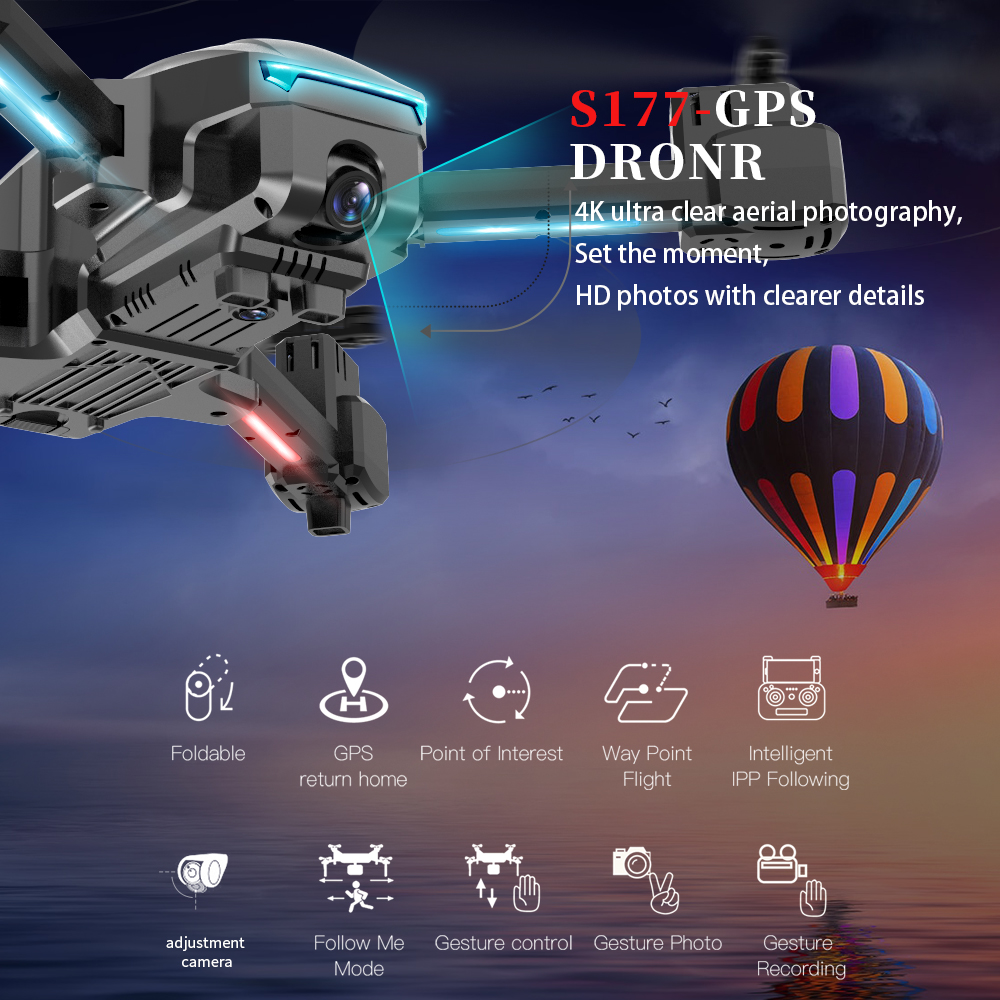 lowest price S36 RC Drone 4K profissional quadcopter air selfie fishing drone pocket mini dron drones with camera hd Helicopter Aircraft Gift