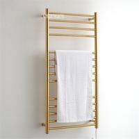 Comprar 9006 baño 304 Acero inoxidable oro calentador de toallas impermeable grado Ip56 calefacción eléctrica toallero Rack