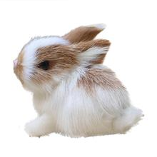 Mini Lovely Simulation Animal Doll Rabbit Plush Doll Sleeping Stuffed Toy Kids Gift Decor