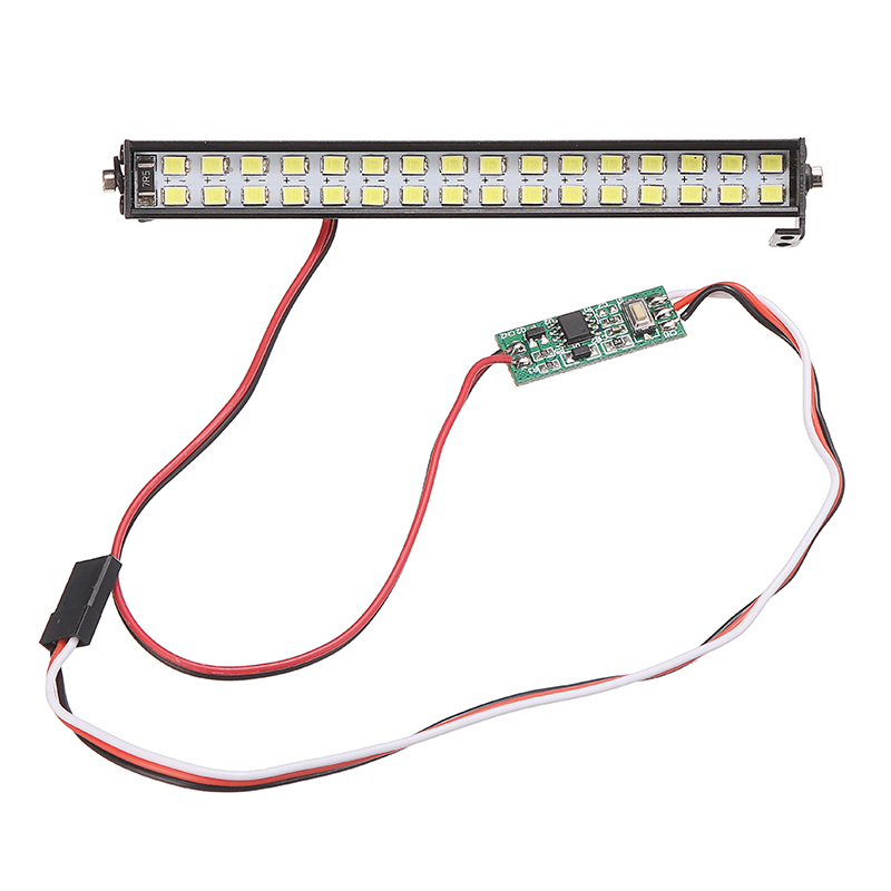 1pcs 32 LED Light Spotlight Double-row High Brightness Hood Bumper Lights Spare Parts for SCX10 D90 <font><b>1/10</b></font> RC Car <font><b>Accessory</b></font> image
