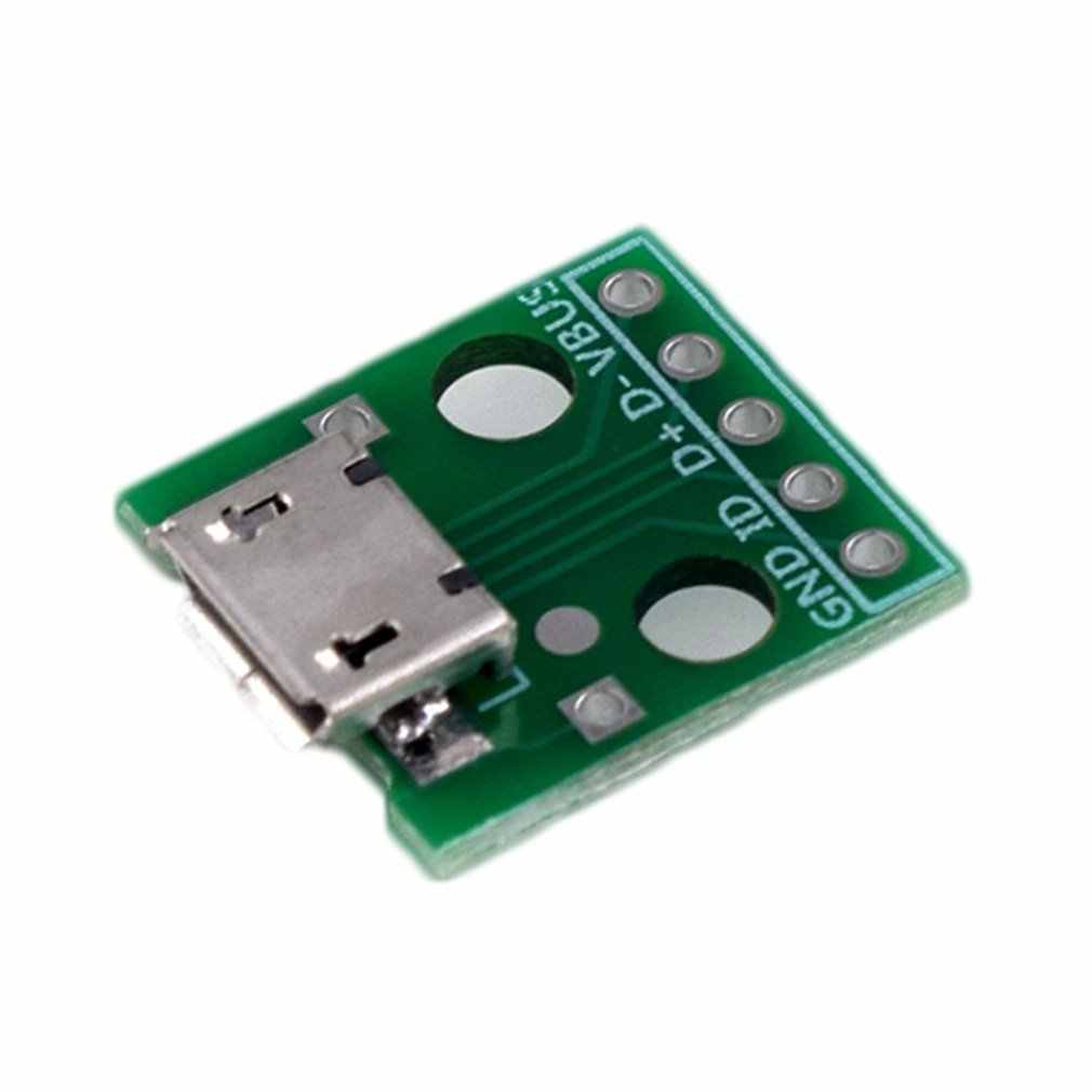 MICRO USB to Dip Female B Type Mike 5p Patch to Invert Adapter Plate Solder Female