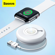 цена на Baseus Qi Wireless Charger Dock For i Watch 4 3 2 1 Magnetic Charger Portable Fast Wireless Charging Pad For Apple Watch Series