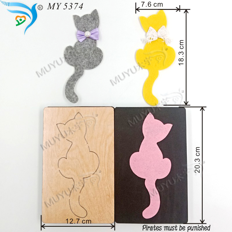 White cat  new wooden mould cutting dies for scrapbooking Thickness 15.8mm-in Cutting Dies from Home & Garden    1