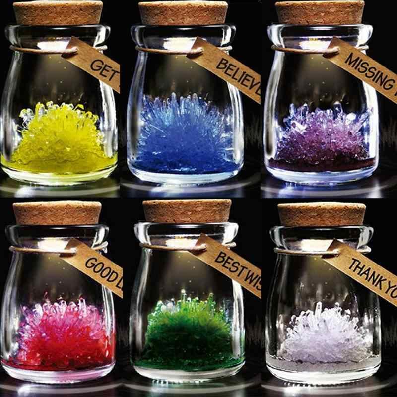 Glow Di Malam Berharap Kristal Botol Dimiliki Kristal Kerajinan Hadiah Menyala Perlengkapan Pesta Dekorasi Rumah Kaca Botol