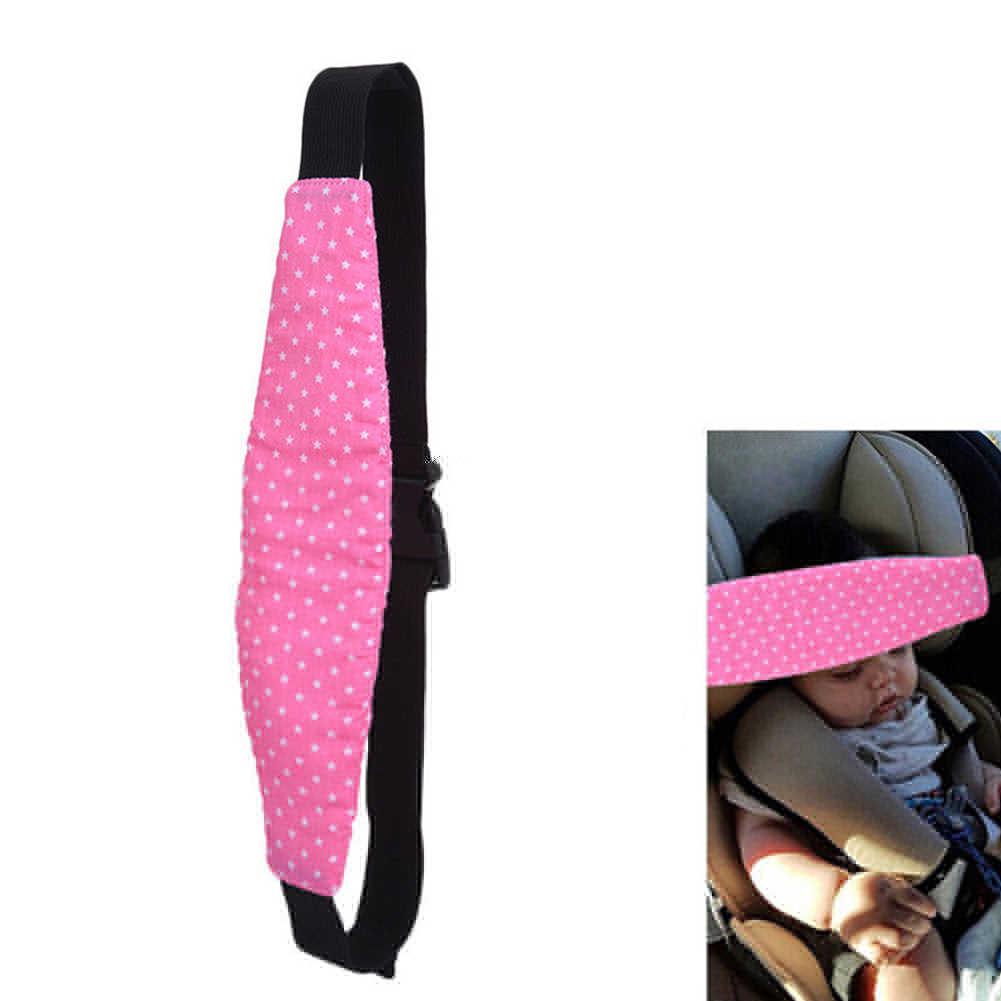 Niemowlęta akcesoria samochodowe ochrona dziecka wsparcie pas bezpieczeństwa miękka podkładka poduszka sen zagłówek pas na głowę z pokrowcem fotelik samochodowy