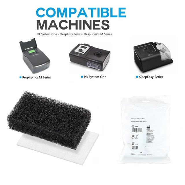 CPAP Filters CPAP Foam Filters and Ultra Fine Filters For Philips Respironics M Series, PR System One and SleepEasy Series